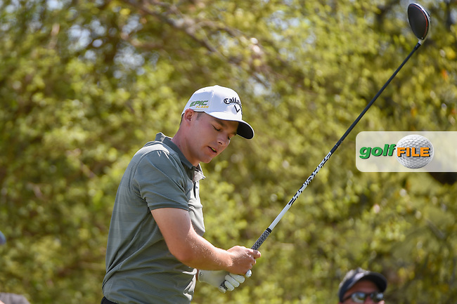 Aaron Wise (USA) reacts to his tee shot on 12 during day 1 of the WGC Dell Match Play, at the Austin Country Club, Austin, Texas, USA. 3/27/2019.<br /> Picture: Golffile | Ken Murray<br /> <br /> <br /> All photo usage must carry mandatory copyright credit (© Golffile | Ken Murray)