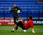 Goalkeeper coach Darren Ward and Jamal Blackman of Sheffield Utd during the Championship match at the Macron Stadium, Bolton. Picture date 12th September 2017. Picture credit should read: Simon Bellis/Sportimage