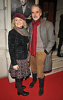 Sinead Cusack and Jeremy Irons at the &quot;Girl From The North Country&quot; press night, Noel Coward Theatre, St Martin's Lane, London, England, UK, on Thursday 11 January 2018.<br /> CAP/CAN<br /> &copy;CAN/Capital Pictures