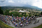 The peleton in action during Stage 8 of the 2018 Giro d'Italia, a flat stage running 209km from Praia a Mare to Montevergine di Mercogliano, Italy. 12th May 2018.<br /> Picture: LaPresse/Fabio Ferrari | Cyclefile<br /> <br /> <br /> All photos usage must carry mandatory copyright credit (&copy; Cyclefile | LaPresse/Fabio Ferrari)