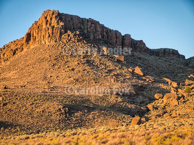 Palisade Mesa at dawn, Big Sand Springs Valley, Nevada.