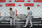 Podium - Valtteri Bottas (FIN), Williams F1 Team - Lewis Hamilton (GBR), Mercedes GP<br />  Foto &copy; nph / Mathis