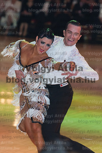 Andrej Skufca and Melinda Torokgyorgy from Slovenia perform their dance during the professional latin-american competition of the Blacpool Danca Festival is the most famous event among dance competiptions held in Blackpool, United Kingdom on June 02, 2011. ATTILA VOLGYI