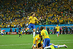 David Luiz (BRA), <br /> JUNE 12, 2014 - Football /Soccer : <br /> 2014 FIFA World Cup Brazil <br /> Group Match -Group A- <br /> between Brazil 3-1 Croatia <br /> at Arena de Sao Paulo, Sao Paulo, Brazil. <br /> (Photo by YUTAKA/AFLO SPORT)