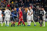 09.10.2019, Signal Iduna Park, Dortmund, GER, FSP, LS, Deutschland (GER) vs Argentinien (ARG)<br /> <br /> DFB REGULATIONS PROHIBIT ANY USE OF PHOTOGRAPHS AS IMAGE SEQUENCES AND/OR QUASI-VIDEO.<br /> <br /> im Bild / picture shows<br /> <br /> enttäuscht / enttaeuscht / traurig / Unentschieden<br /> Gestik, Mimik,<br /> Sebastian Rudy (Deutschland / GER #18)<br /> Suat Serdar (Deutschland / GER #03)<br /> Niklas Süle / Niklas Suele (Deutschland / GER #15)<br /> Marc-André ter Stegen (Deutschland / GER #22)<br /> <br /> <br /> während Freundschaftsspiel  Deutschland gegen Argentinien   in Dortmund  am 09.10..2019,<br /> <br /> Foto © nordphoto / Kokenge