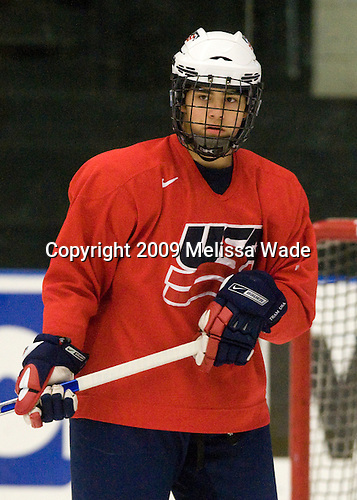A.J. Treais (US - 23) - The US practiced the morning of Sunday, April 19, 2009, prior to their gold medal game against Russia in the 2009 World Under 18 Championship at the Urban Plains Center in Fargo, North Dakota.