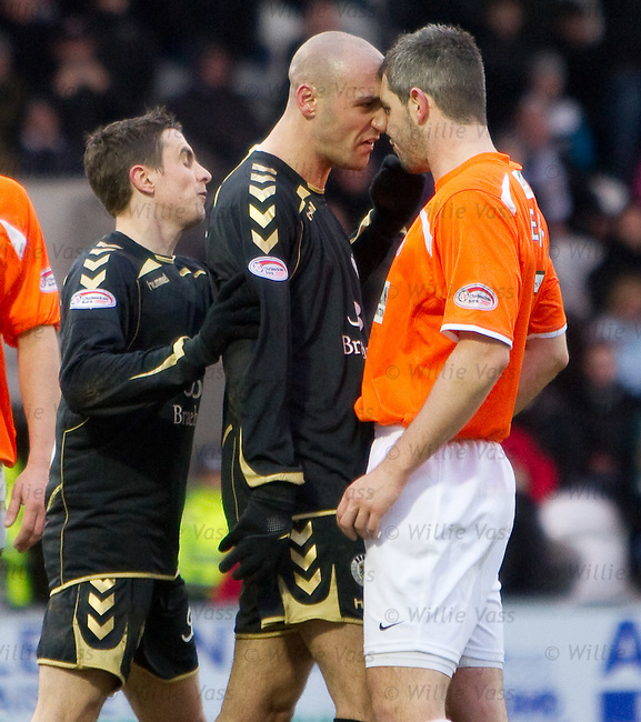 Billy Mehmet and David Elebert go head to head at the end of the match after some aggro between them