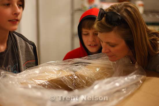 Making gelato with Trevor Morris. Noah Nelson, Nathaniel Nelson