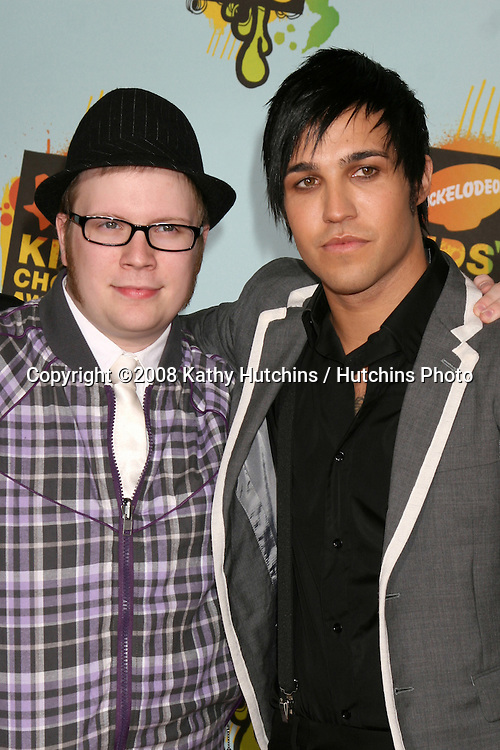 Patrick Stump & Pete Wentz.2008 Nickelodeon's Kids' Choice Awards.UCLA pauley Pavilion.Westwood, CA.March 29, 2008.©2008 Kathy Hutchins / Hutchins Photo