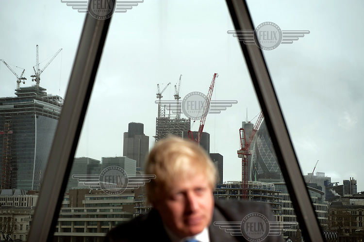 Boris Johnson, British Conservative Party politician, who has served as Mayor of London since 2008. Photographed at City Hall in London.