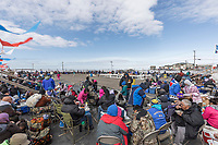 Residents gather to share in food and celebration at the Nalukataq in Utqiagvik (Barrow) Alaska in Alaska's Arctic.