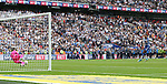 Huddersfield's Danny Ward saves Reading's Jordan Obita's penalty during the Championship Play-Off Final match at Wembley Stadium, London. Picture date: May 29th, 2017. Pic credit should read: David Klein/Sportimage