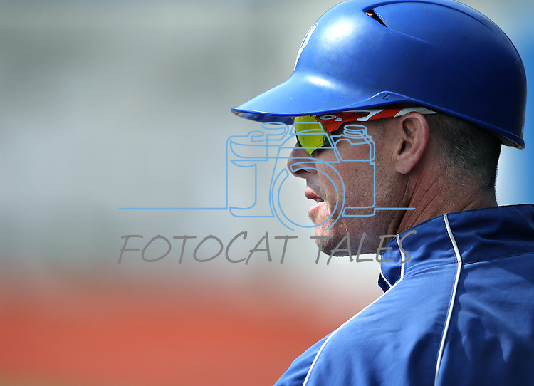 Western Nevada College Head Coach DJ Whittemore works a game against CSI in Carson City, Nev. on Friday, Mar. 4, 2016. <br />