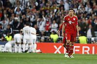 25.04.2012 SPAIN -  UEFA Champions League Semi-Final 2nd leg  match played between Real Madrid CF vs  FC Bayern Munchen 2 (1) - 1 (3) at Santiago Bernabeu stadium. The picture show Mario Gomez (Forwards Bayern Munchen)