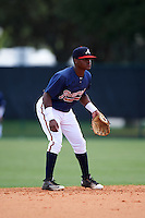 GCL Braves shortstop Nicholas Shumpert (92) during a game against the GCL Blue Jays on August 5, 2016 at ESPN Wide World of Sports in Orlando, Florida.  GCL Braves defeated the GCL Blue Jays 9-0.  (Mike Janes/Four Seam Images)