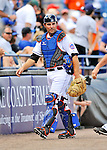 28 February 2011: New York Mets catcher Mike Nickeas walks to the dugout prior to a game against the Washington Nationals at Digital Domain Park in Port St. Lucie, Florida. The Nationals defeated the Mets 9-3 in Grapefruit League action. Mandatory Credit: Ed Wolfstein Photo