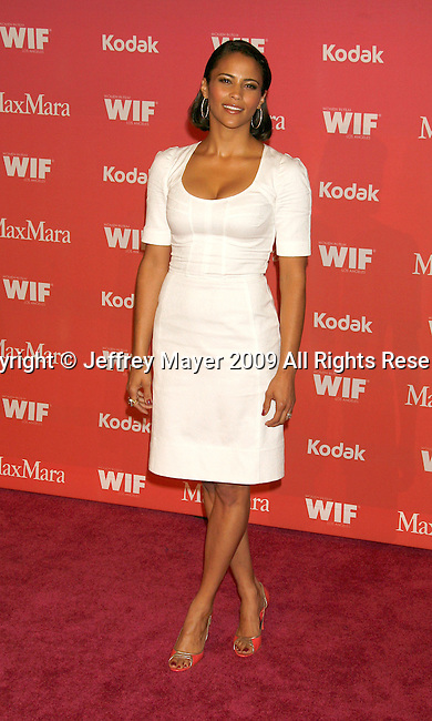 CENTURY CITY, CA. - June 12: Paula Patton arrives at Women In Film's 2009 Crystal + Lucy Awards held at the Hyatt Regency Century Plaza on June 12, 2009 in Century City, California.