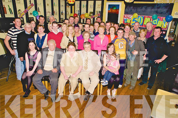 Margaret Horgan, Dennehys Bohereen, Killarney, pictured with family and friends as she celebrated her 50th birthday in the Crock of Gold, Killarney on Friday night.........