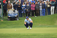 Paul Dunne (IRL) on the 16th green during Round 4 of the Open de Espana 2018 at Centro Nacional de Golf on Sunday 15th April 2018.<br /> Picture:  Thos Caffrey / www.golffile.ie<br /> <br /> All photo usage must carry mandatory copyright credit (&copy; Golffile | Thos Caffrey)