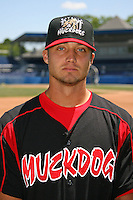 June 16, 2009:  Daniel Richardson of the Batavia Muckdogs poses for a head shot before the teams practice at Dwyer Stadium in Batavia, NY.  The Batavia Muckdogs are the NY-Penn League Single-A affiliate of the St. Louis Cardinals.  Photo by:  Mike Janes/Four Seam Images