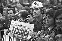 - manifestazione del PCI, Partito Comunista Italiano, contro il governo di Bettino Craxi (marzo 1984)....- demonstration of Pci, Italian Communist Party, against the government of Bettino Craxi (Mars 1984)