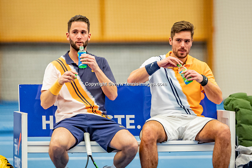 Alphen aan den Rijn, Netherlands, December 18, 2019, TV Nieuwe Sloot,  NK Tennis, Men's doubles: -	<br /> Tim van Terheijden (NED) and Jesse Timmermans (NED)(L)<br /> Photo: www.tennisimages.com/Henk Koster