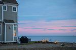 Clinton, CT. Loop Road. Long Island Sound Sunset.