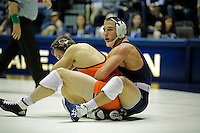 STATE COLLEGE, PA -DECEMBER 19: Garett Hammond of the Penn State Nittany Lions during a match against Chris Moon of the Virginia Tech Hokies on December 19, 2014 at Recreation Hall on the campus of Penn State University in State College, Pennsylvania. Penn State won 20-15. (Photo by Hunter Martin/Getty Images) *** Local Caption *** Garett Hammond;Chris Moon