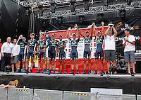 Team Movistar celebrates the victory in the Special Crono Stage.August 17,2012. (ALTERPHOTOS/Alfaqui/Acero) /NortePhoto.com<br /> <br /> **SOLO*VENTA*EN*MEXICO**<br /> **CREDITO*OBLIGATORIO** <br /> *No*Venta*A*Terceros*<br /> *No*Sale*So*third*<br /> *** No Se Permite Hacer Archivo**<br /> *No*Sale*So*third*