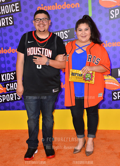 Rico Rodriguez &amp; Raini Rodriguez at the Nickelodeon Kids' Choice Sports Awards 2018 at Barker Hangar, Santa Monica, USA 19 July 2018<br /> Picture: Paul Smith/Featureflash/SilverHub 0208 004 5359 sales@silverhubmedia.com