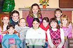 Celebrating completing their Creative Drama course in Keel Community hall on Friday night front row l-r: Lucy Barrett, E?lena Horgan, Shannon Kennedy. Back row: Shona Mangan, Ciara O'Shea, Orla Courtney, Megan O'Connor, Nicola Giles, Amy Mangan and Aisling Sullivan .   Copyright Kerry's Eye 2008