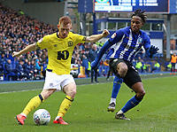 Blackburn Rovers' Harrison Reed tries to get a cross in past Sheffield Wednesday's Rolando Aarons <br /> <br /> Photographer David Shipman/CameraSport<br /> <br /> The EFL Sky Bet Championship - Sheffield Wednesday v Blackburn Rovers - Saturday 16th March 2019 - Hillsborough - Sheffield<br /> <br /> World Copyright &copy; 2019 CameraSport. All rights reserved. 43 Linden Ave. Countesthorpe. Leicester. England. LE8 5PG - Tel: +44 (0) 116 277 4147 - admin@camerasport.com - www.camerasport.com