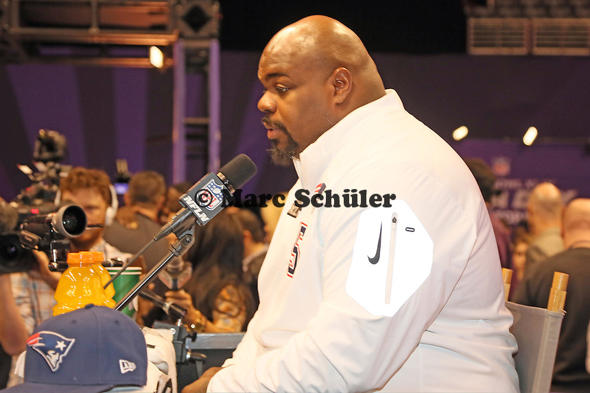 Vince Wilfork (Patriots)  - Super Bowl XLIX Media Day, US Airways Center, Phoenix