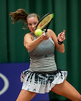 Wateringen, The Netherlands, December 1,  2019, De Rhijenhof , NOJK 12 and16 years, Final girls 16 years: Anouk Koevermans (NED)<br /> Photo: www.tennisimages.com/Henk Koster