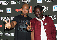 NEW YORK, NY - OCTOBER 04: DMC and Emmanuel Jal at Hard Rock Rocks Times Square at Hard Rock Cafe, Times Square on October 4, 2012 in New York City. ©RW/MediaPunch Inc.