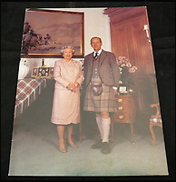 BNPS.co.uk (01202 558833)<br /> Pic: MooreAllen&amp;Innocent/BNPS<br /> <br /> The Queen and Prince Philip were photographed alone for their 1995 card.<br /> <br /> <br /> A comprehensive collection of Christmas cards sent by the Queen and Prince Philip over a 30 year period have emerged to highlight the fascinating changes of the Royal Family.<br /> <br /> The 31 greetings cards carry various images of the Royal couple on the front along with different members of their family.<br /> <br /> They were sent every year without fail from 1971 through to 2001 to the unnamed recipient, who was clearly an acquaintance of the Queen.<br /> <br /> The first card features a formal photograph of the Queen, the Duke of Edinburgh, a 23-year-old Prince Charles, Princess Anne, Prince Andrew, aged 11 and seven-year-old Prince Edward.<br /> <br /> They are being sold in Cirencester on Friday.