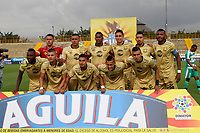 BOGOTÁ - COLOMBIA, 24-04-2019:Formación del Rionegro ante La Equidad durante partido por la fecha 17 de la Liga Águila I 2019 jugado en el estadio Metropolitano de Techo de la ciudad de Bogotá. /Team of Rionegro agaisnt of Equidad  during the match for the date 17 of the Liga Aguila I 2019 played at the Metropolitano de Techo  stadium in Bogota city. Photo: VizzorImage / Felipe Caicedo / Staff.