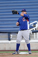 Dan Vogelbach of the AZL Cubs before a game against the AZL Brewers at Maryvale Baseball Park on July 23, 2012 in Phoenix, Arizona. Cubs defeated Brewers 7-3. (Larry Goren/Four Seam Images)