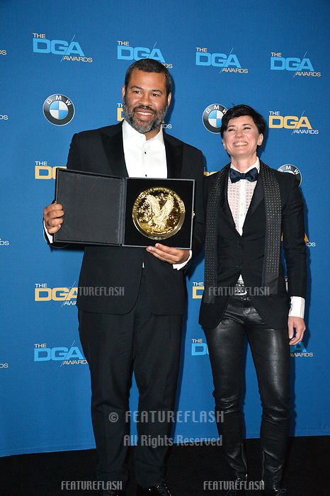 Jordan Peele &amp; Kimberly Pierce at the 70th Annual Directors Guild Awards at the Beverly Hilton Hotel, Beverly Hills, USA 03 Feb. 2018<br /> Picture: Paul Smith/Featureflash/SilverHub 0208 004 5359 sales@silverhubmedia.com