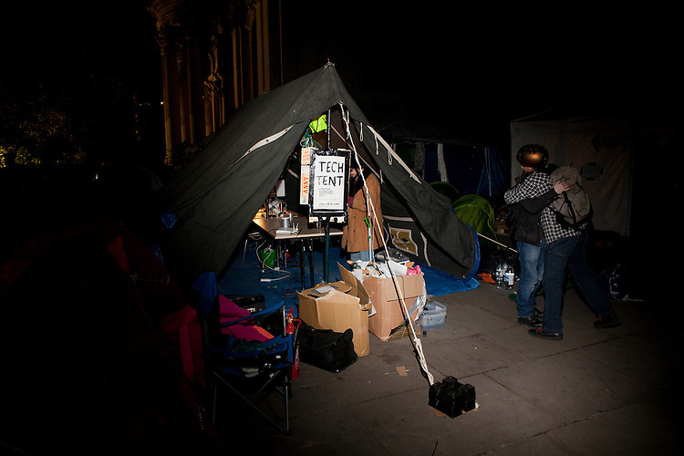 Occupy London. London, October 20th 2011.  The Tech Tent.