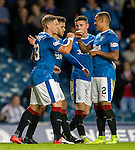 Team spirit again as Martyn Waghorn and James Tavernier celebrate together