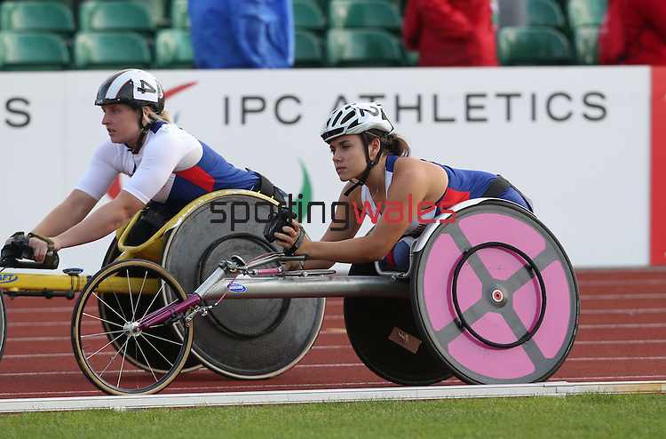 IPC European Athletics Championship 2014<br /> Shelly Woods GBR &amp; Jade Jones GBR<br /> Women's 5000m T54<br /> Swansea University<br /> 20.08.14<br /> &copy;Steve Pope-SPORTINGWALES