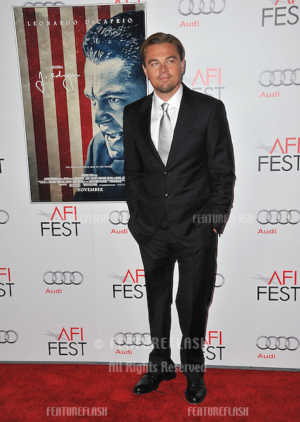 "Leonardo DiCaprio at the world premiere of his new movie ""J. Edgar"", the opening film of the AFI FEST 2011, at Grauman's Chinese Theatre, Hollywood..November 3, 2011  Los Angeles, CA.Picture: Paul Smith / Featureflash"