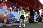White Jersey Miguel Angel Lopez Moreno (COL) Astana Pro Team at sign on before the start of Stage 4 of La Vuelta 2019 running 175.5km from Cullera to El Puig, Spain. 27th August 2019.<br /> Picture: Eoin Clarke | Cyclefile<br /> <br /> All photos usage must carry mandatory copyright credit (© Cyclefile | Eoin Clarke)