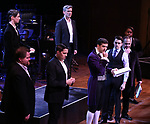 "Tony Yazbeck and Corey Cott with cast performing during the MCP Production of ""The Scarlet Pimpernel"" Concert at the David Geffen Hall on February 18, 2019 in New York City."