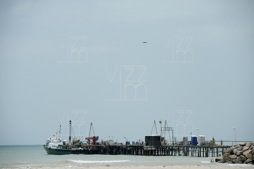 RIOHACHA -COLOMBIA. 30-05-2014. Muelle turístico de Riohacha capital del Departamento de la Guajira, Colombia. / Tourist wharf of Riohacha capital of the deparment of Guajira, Colombia. Photo: VizzorImage/ Gabriel Aponte / Staff