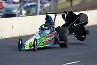 Jul 22, 2017; Morrison, CO, USA; NHRA top dragster driver XXXX during qualifying for the Mile High Nationals at Bandimere Speedway. Mandatory Credit: Mark J. Rebilas-USA TODAY Sports