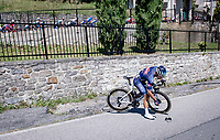 Kristian Sbaragli (ITA/Alpecin-Fenix) re-descending on the first climb of the day (the Colle Gallo) to pick up his dropped sunglasses<br /> <br /> 114th Il Lombardia 2020 (1.UWT)<br /> 1 day race from Bergamo to Como (ITA/231km) <br /> <br /> ©kramon