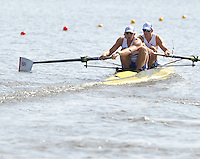 Poznan, POLAND,   GBR M2-, Bow, Peter REED and Andy TRIGGS HODGE, competing in the heats of the men's pair, on the first day of the, 2009 FISA World Rowing Championships. held on the Malta Rowing lake, Sunday 23/08/2009 [Mandatory Credit. Peter Spurrier/Intersport Images]