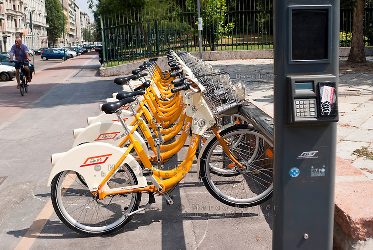 Milano, Milan. Bike sharing